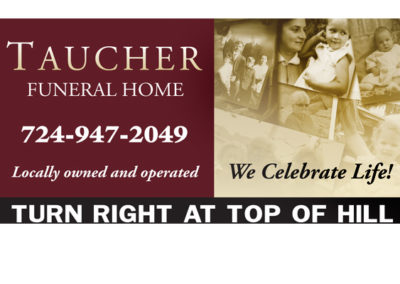 Funeral home billboard design