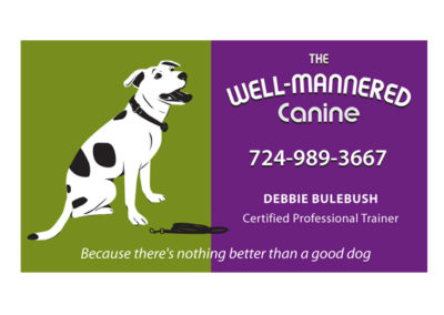 Well Mannered Canine - logo, dog illustration and business card