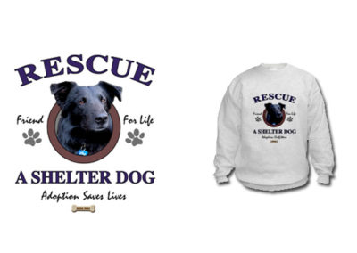 Shirt design using shelter dog photos