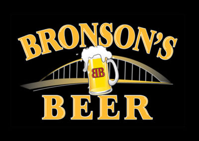 Bronson's Beer in Wexford, PA - logo and illustrations