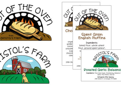 Out of the Oven logo redesign for product labels