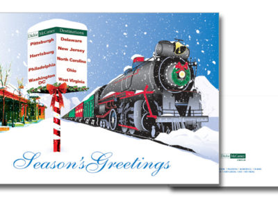 Custom Christmas card design