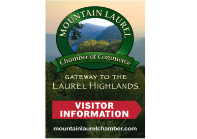 Mountain Laurel Chamber of Commerce sign design
