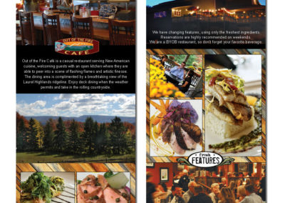 Out of the Fire Cafe - new rack cards