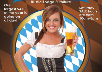 Oktoberfest postcard for Rustic Lodge