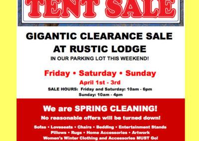 Rustic-Lodge-email-blast-tent-sale