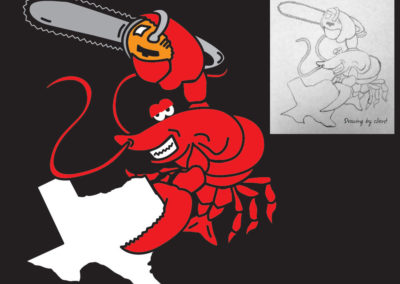 Vector Illustration from drawing provided by client for Texas Crawfish Festival