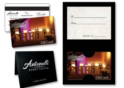 Antonelli Event Center gift cards - photography by Shanna B.