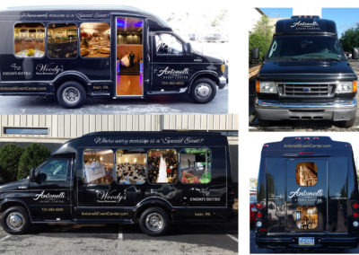 Antonelli Event Center van mockup artwork / layout