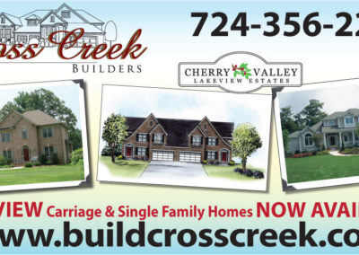 Cross Creek Builders billboard for All State Signz