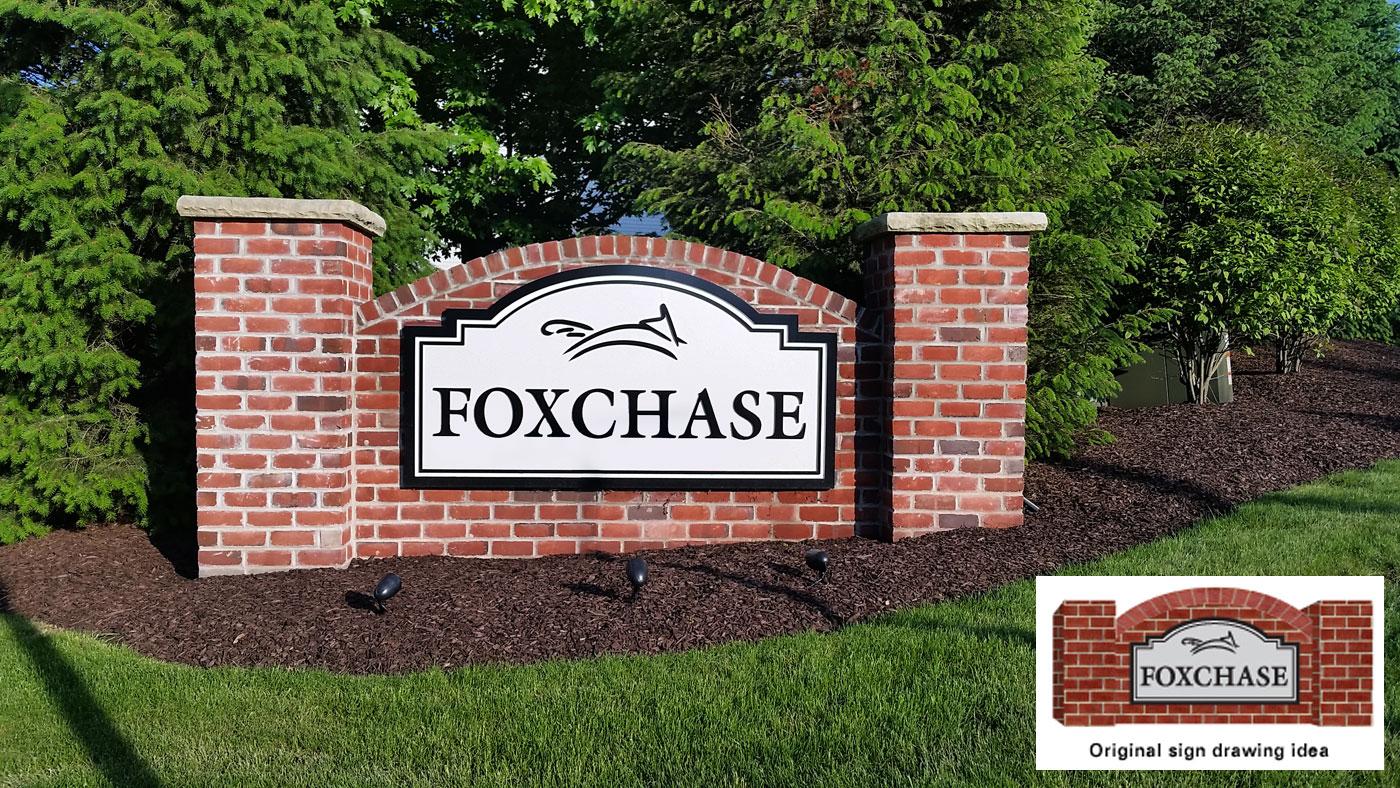 Signage hot designs for Brick sign designs