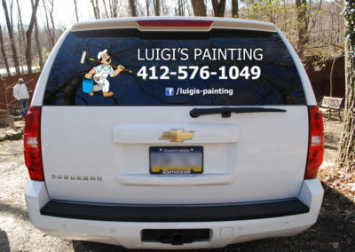 Luigi's logo and car lettering