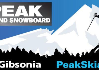 Peak Ski and Snowboard billboard for All State Signz