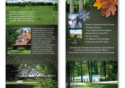 Rack card for Pike Run Country Club