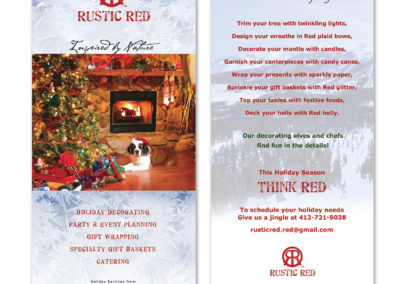 Rack cards for Rustic Red
